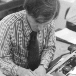 Tom Brooks as an intern at UPI in New York